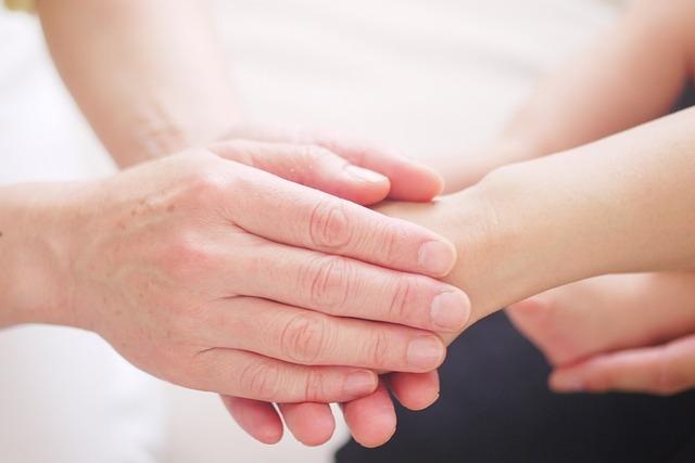Healing through hand contact